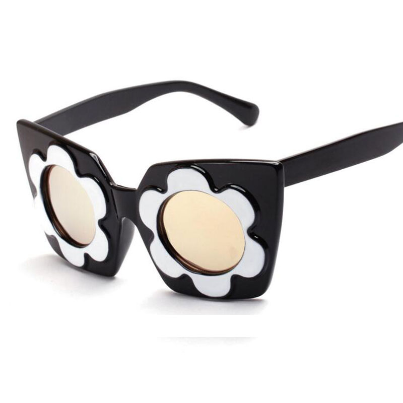 2016 Luxury Floral Sunglasses Women Brand Designer, Vintage Mirror Sun Glasses Eyeglasses lunettes oculos zonnenbrillen LFL9(China (Mainland))