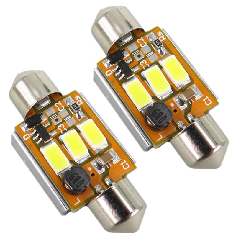 2x Error Free Led 36mm Festoon 6418 C5W 3W 5630 SMD Lamp Car Auto Bulb Registration License Number Plate Light For BMW Canbus(China (Mainland))