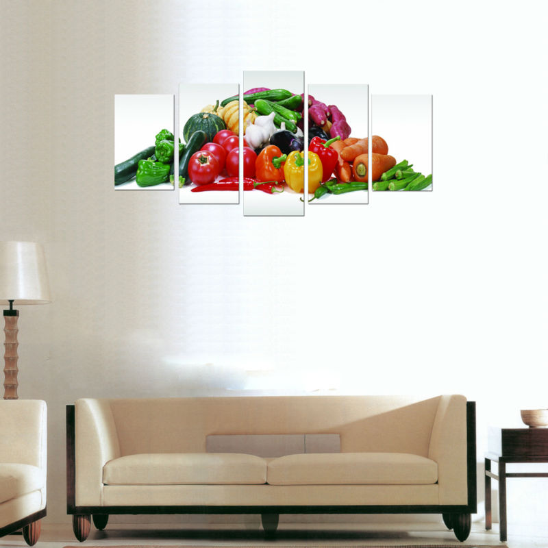 Modern Kitchen Art Set: Giclee Prints, Free Shipping, 5 Panel Set, Kitchen
