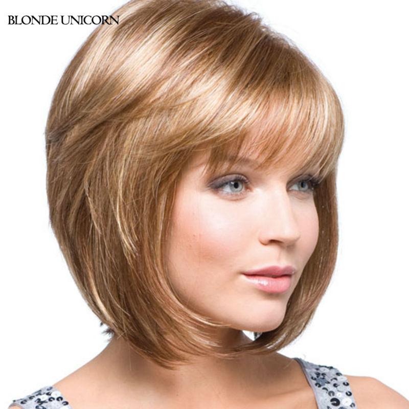 Blonde Unicorn Charming Bob Wigs Short Bob Human Hair Wigs For Women Blonde Human Hair Wigs 10 Colors Global Free Shipping(China (Mainland))