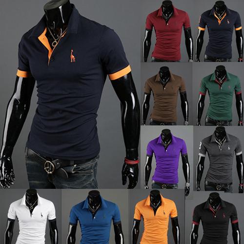100 Cotton Mens T Shirt Fashion 2015 Summer Mens Short Sleeve Slim Fit Shirts Causal T