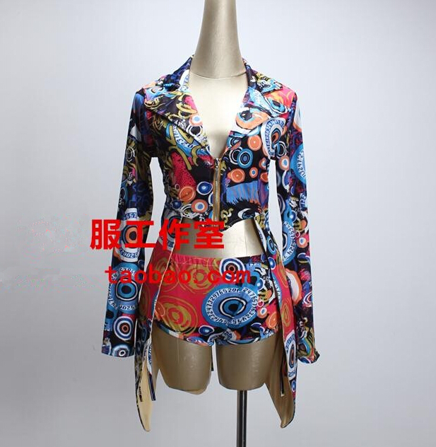 Women Stage Wear Dancing Outfit Short Bar Nightclub Singer Ds Costumes Sexy Female Lead Dancer Clothing Jazz Hip-Hop DJ Costumes