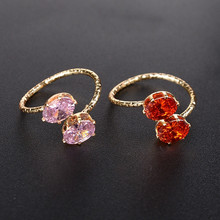 Buy 1Pc Pink Red Crystal Midi Finger Knuckle Ring Women Girls Fashion Punk Gold Color Charm Rings Jewelry Gifts for $1.41 in AliExpress store