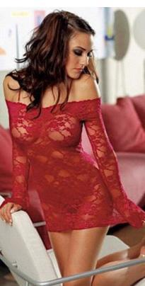 2015 Rushed Erotic Baby Doll Af6019 New Off Shoulder Lace Mesh Lingerie Women's Half Slips Two Pieces Slip Dress & G-string Sexy(China (Mainland))