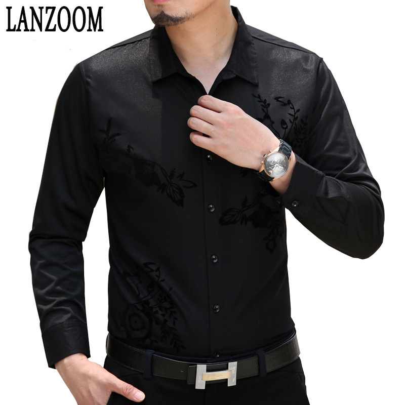 Popular Black Dress Shirt Men-Buy Cheap Black Dress Shirt Men lots ...
