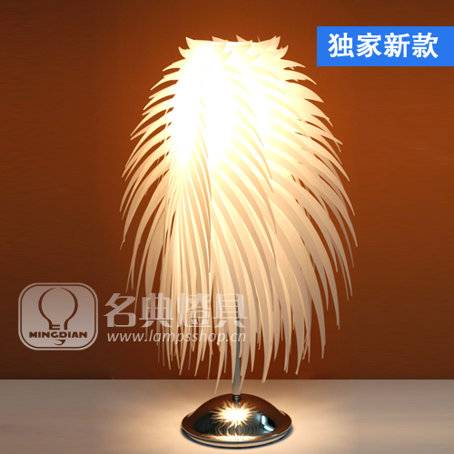 MEW 2014 Modern fashion ofhead feather table lamp touch sensor lamp dimming(China (Mainland))