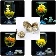 4 Balls Different Handmade Blooming Flower Green Tea Home Wedding Gift  1ON6 1ORU