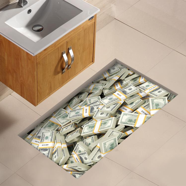 Slip-resistant 3d floor sticker bathroom waterproof tiles(China (Mainland))