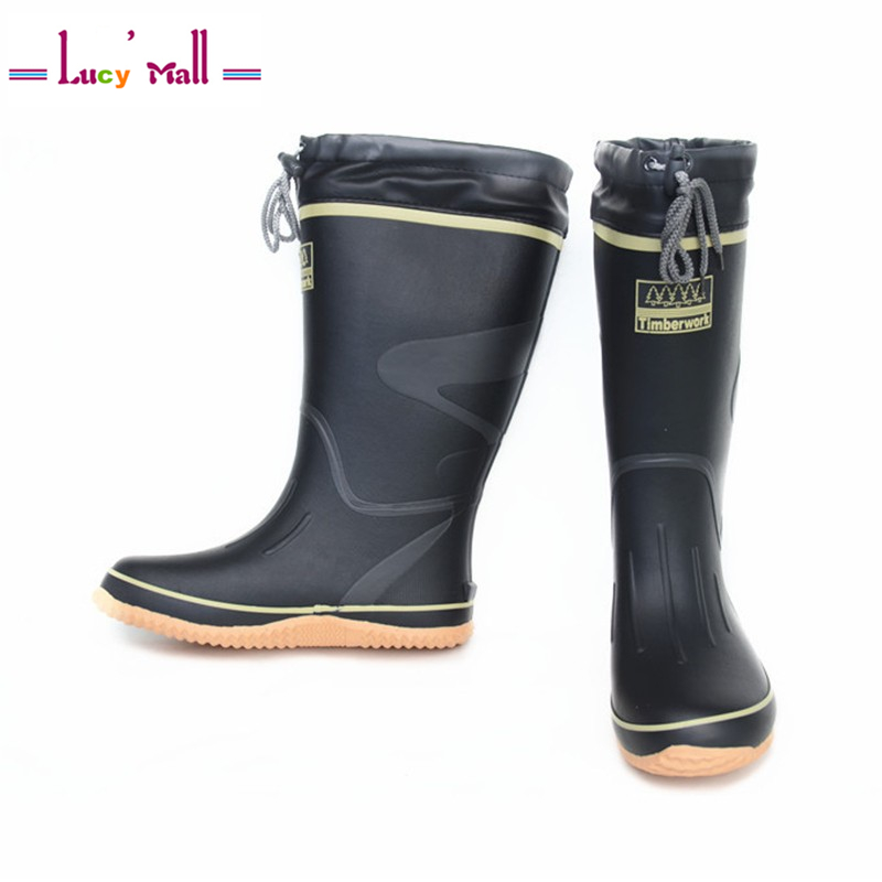 Men Rain Boots winter Waterproof Water Boots Long Rain Wellies Shoes Fashion High Quality Non-Slip Knee High Work Rainboots(China (Mainland))