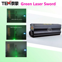 Free Shipping Dual Direction 532nm Green Laser Sword for laser man show 532nm 100mw double-headed laser