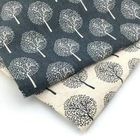 50x140cm/sets color Cotton and linen tree craft cloth printing handmade DIY fabric