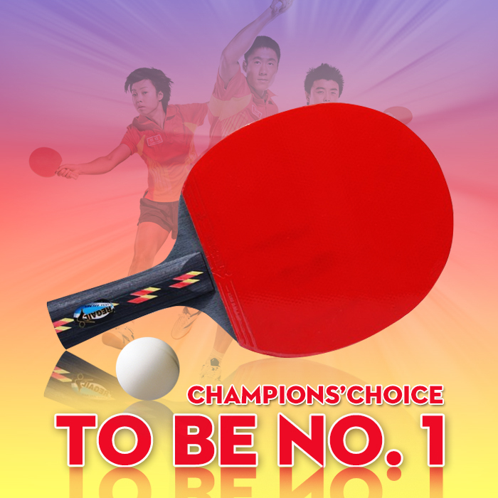 High quality 3 star table tennis racket for senior table tennis player double face pimples-in for attacking type player(China (Mainland))