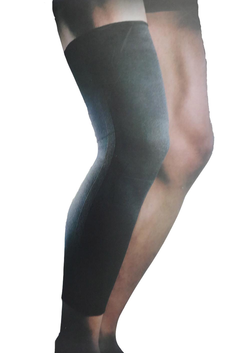 Black elastic nylon spandex cotton knee brace thigh shin support free shipping #sb210(China (Mainland))