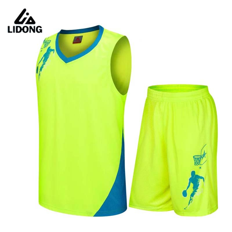 2017 New Kids Basketball Jersey Sets Uniforms kits Child Sports clothing Breathable Youth basketball jerseys shorts DIY printing(China (Mainland))