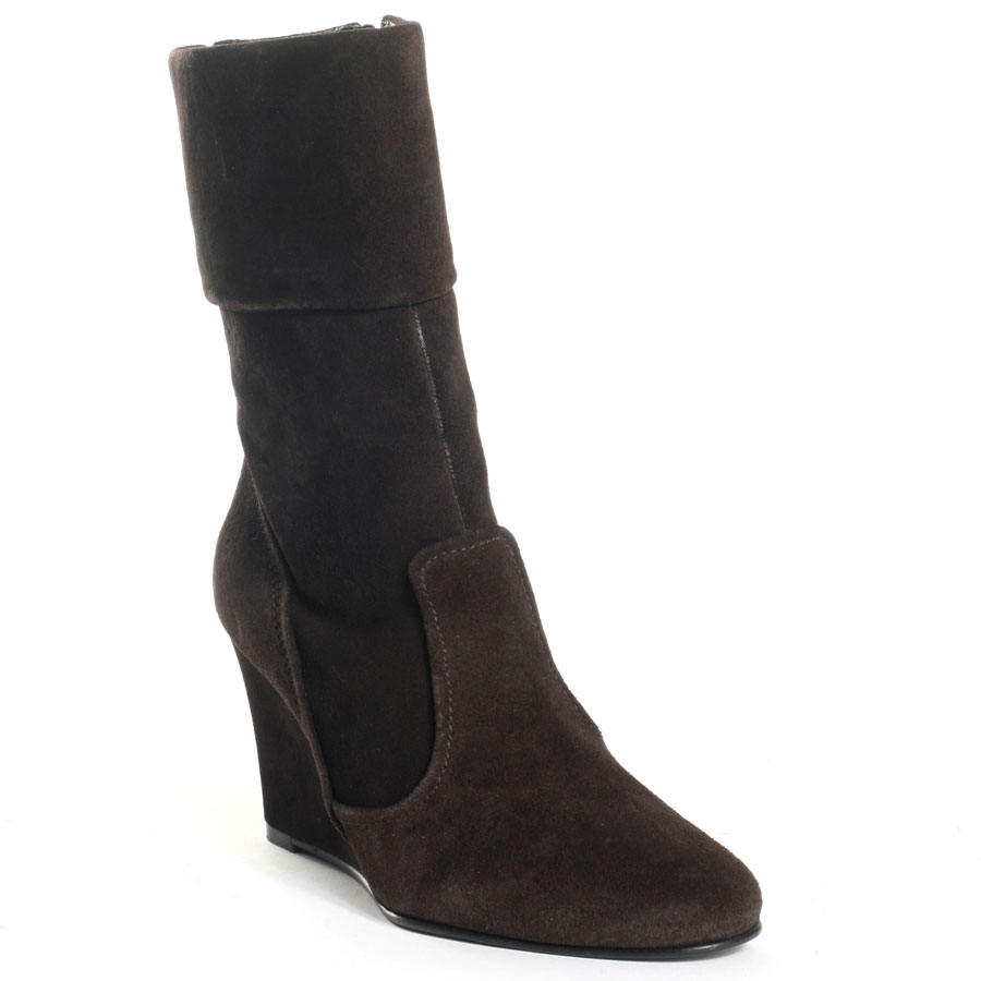 Black Women Boots Suede Faux Leather Winter Warm Short Boots Wedge Platform Heels Pointed Toe Made-to-order Plus Size Shoes<br>