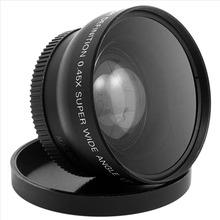 1set 52MM 0.45x Wide Angle Macro Lens for Nikon D3200 D3100 D5200 D5100 Digital Hot