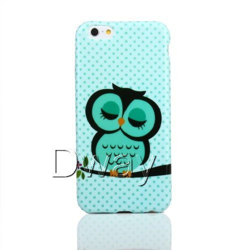 Здесь можно купить  New Stylish Grip Slim Flower Owl TPU Gel Rubber Soft Back Cover Case For iPhone 6 Air 4.7