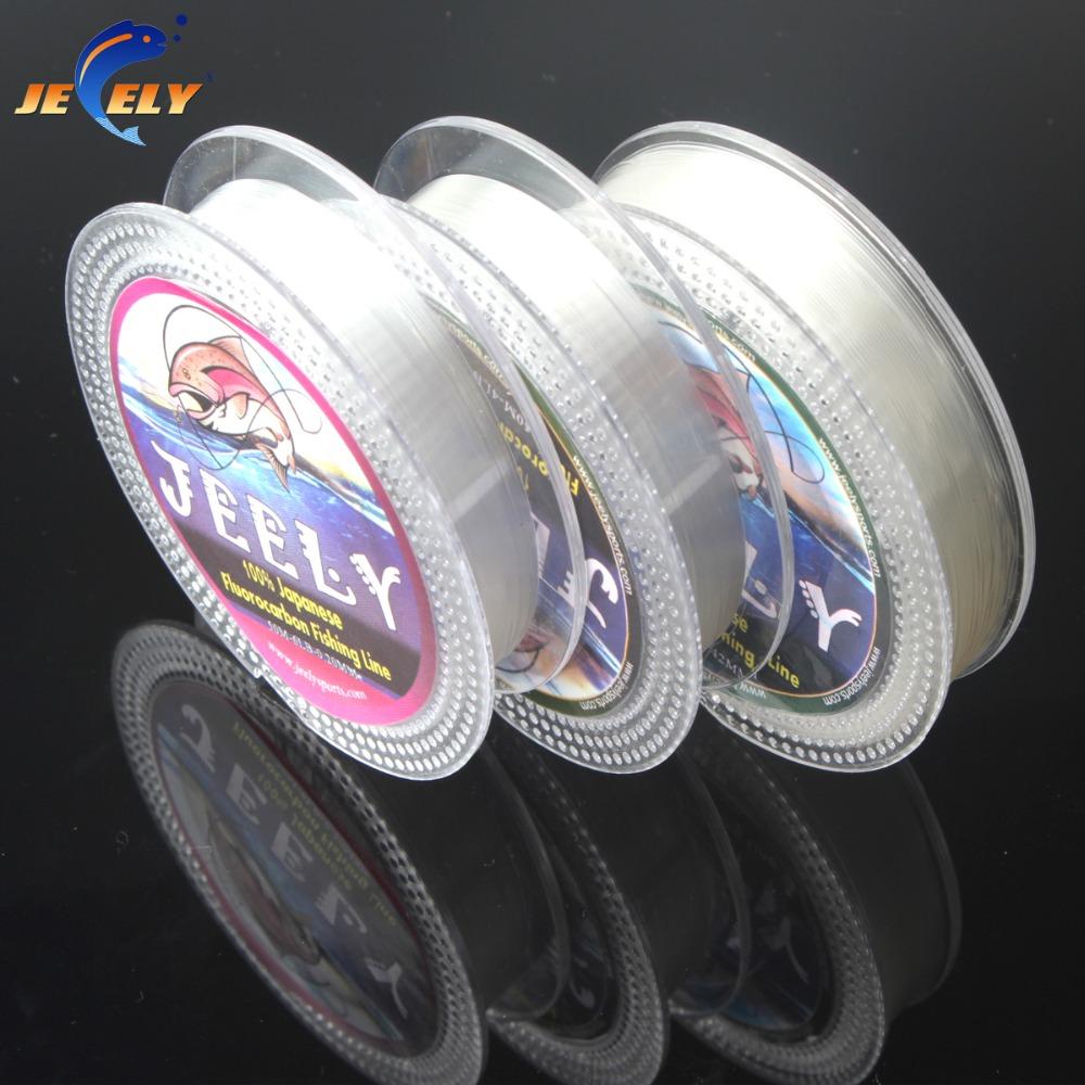 Free Shipping 50m 100% Japanese Fluorocarbon Material Leader Fishing Line 4lb 5lb 6lb 7lb 8lb 9lb 10lb