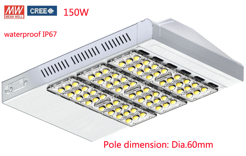 Pole adapter 90degree adjustable 150W LED Street Light led road light Garden light 14000LM CREE XTE Chip Meanwell UL SAA CE(China (Mainland))