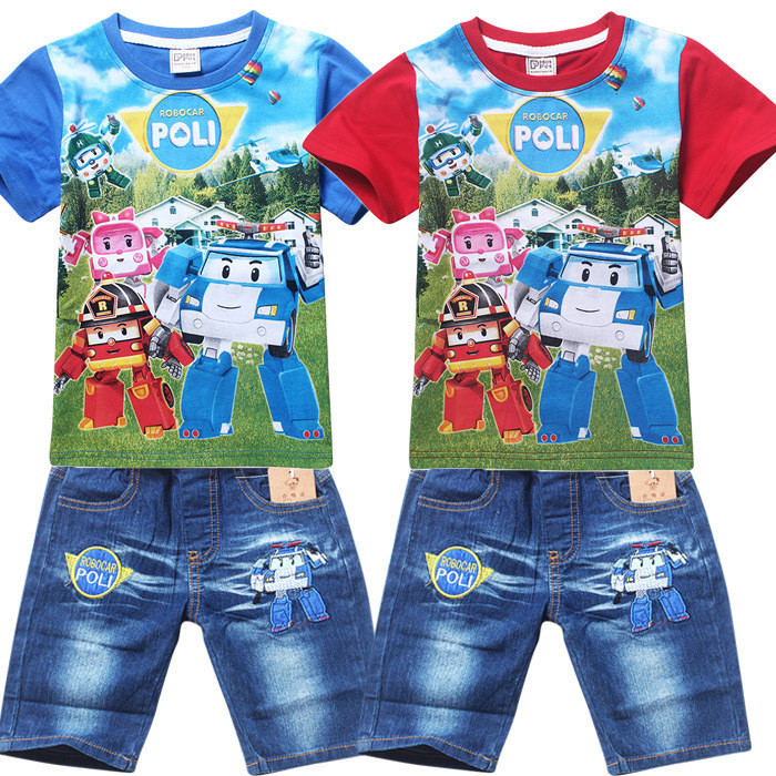 New 2016 Summer Style Children Clothing set T-shirt+pants 2 pcs set,Boys Girls kids clothes family clothing cotton(China (Mainland))