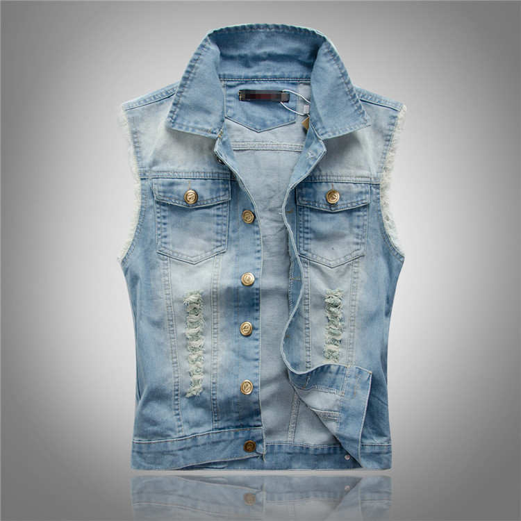 No Sleeve Jean Jacket - JacketIn