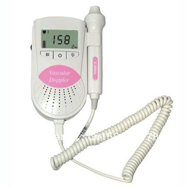 3MHz Pink Sonoline B LCD Display Fetal Heart Rate Monitor,with free gel Prenatal Fetal Doppler(China (Mainland))