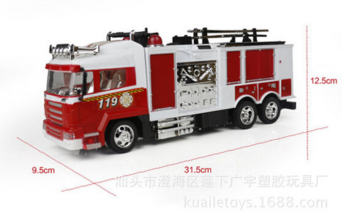 2015 new 4CH RC Fire Truck 14 Scale remote control truck electric toy cars for kids rechargable battery rc drift car(China (Mainland))