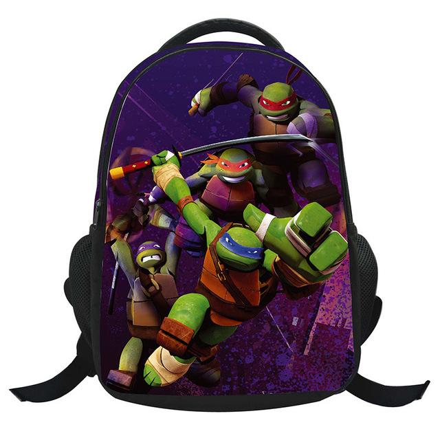 2015 новый мальчик рюкзак-первый сорт Mutant Ninja turtles мультфильм рюкзак прохладный ...