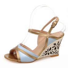 Buy Plus size 43 Women Sandals Summer New 2017 Gladiator Wedges Shoes Woman Flip Flops Bohemia Beach Sandal Shoes Ladies for $20.20 in AliExpress store