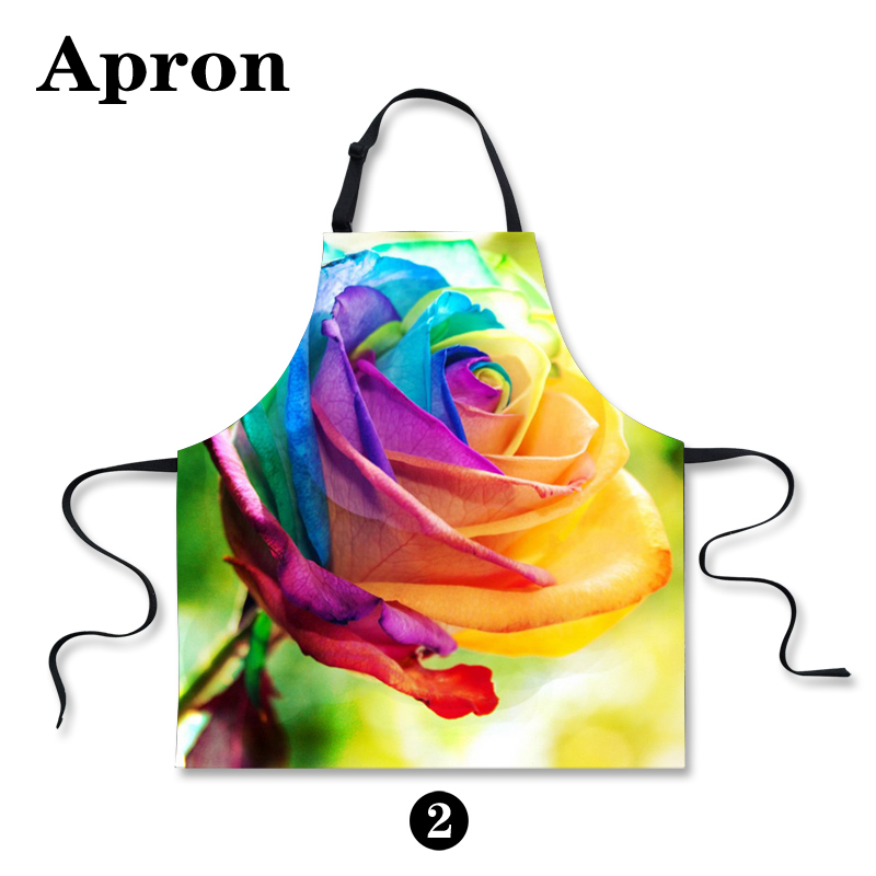 New Avental Candy Color Flower Rose Novelty Aprons for Women Fashion Floral Apron For Work Beautiful Girls Ladies Kitchen Aprons(China (Mainland))
