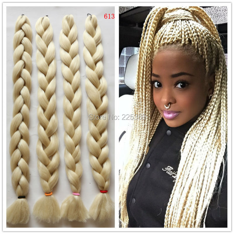 Crochet Box Braids With Kanekalon Hair : ... Kanekalon Jumbo Braiding Hair Dreadlock Soft Afro Crochet Box Braids