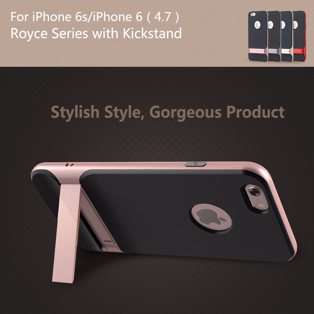 Rock factory outlet for iPhone 6 6s Case Royce Holder Series Luxury Case For iPhone 6 6s plus Phone Back Cover with stand