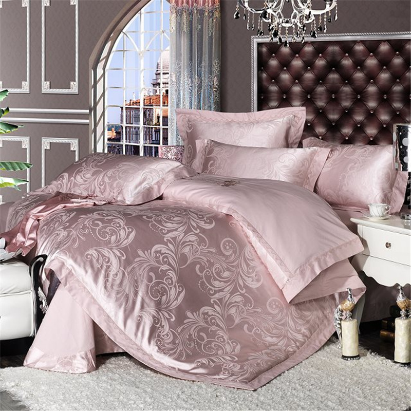 Buy romorus luxury satin jacquard bedding - Fundas nordicas jacquard ...