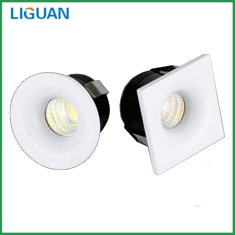 LIGUAN 1W 3W Led Spotlights Ceiling Light Warm Cold White Led Lamp Cabinet Counter Showcase Decorated Jewelry Spotlights(China (Mainland))