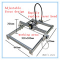 2016 Latest 2500MW DIY laser engraving machine laser machine working area 35 50cm