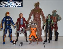 Guardians of the Galaxy 6 pcs set figure toy doll collection gift 2014 movie