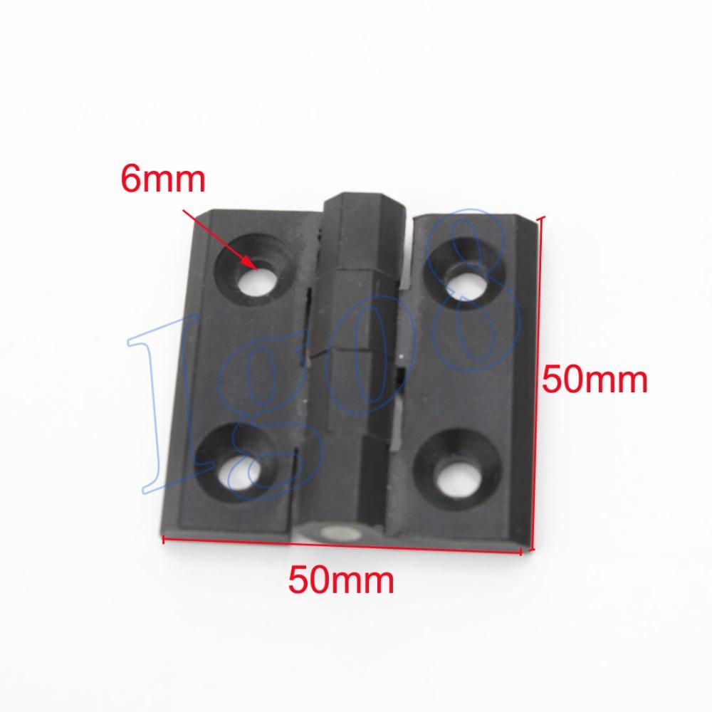 6mm Mount Hole Zinc Alloy Closet Cabinet Door Butt Hinge Black 50mm x 50mm 3PCS(China (Mainland))