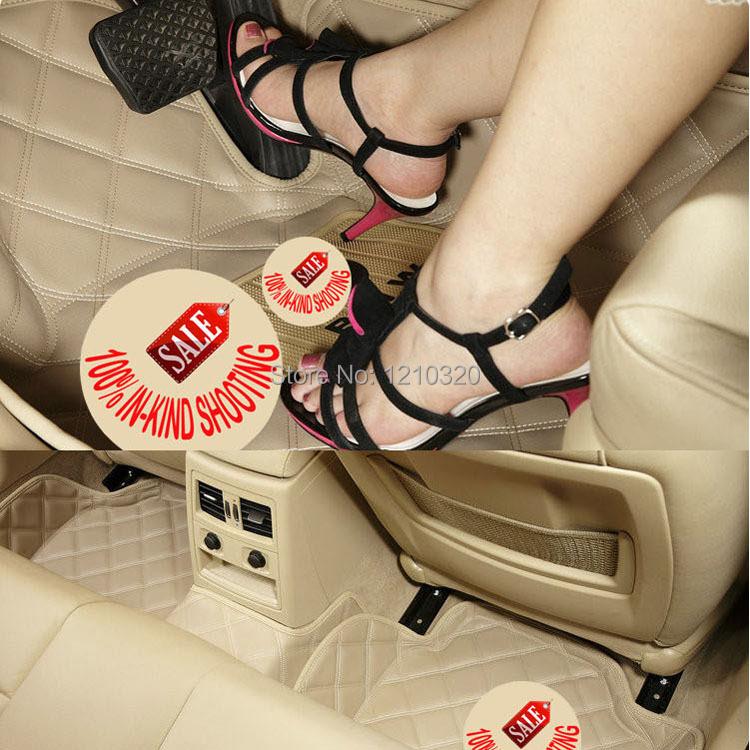 Quality PU leather car floor mats car anti-slip car mat slip mat car for BMW 3/ 5/ 7/ series 318i 320i 325i & X3/ X5 / GT series(China (Mainland))