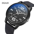 New Quartz Fashion Watch Men Wristwatch Women 50mm Big Dial Men Watch Black Color Genuine Leather
