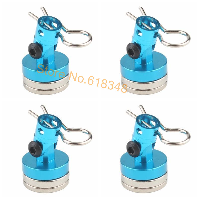 4pcs Magnet Magnetic Stealth Invisible Body Post Mount Contact Shell Column + Clips For RC Drift Car HSP 122037 Sakura Redcat(China (Mainland))