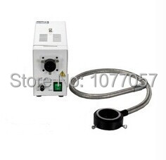 Free shipping, 24v 150W Halogen Fiber cold Light source with ring optical fiber ,used for microscope illumination(China (Mainland))