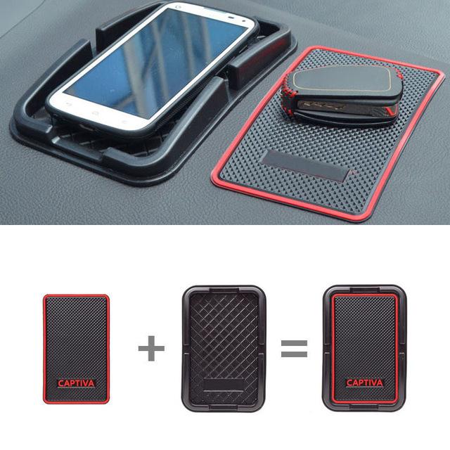 17.8x11.8cm Car Styling For Chevrolet Captiva 2012 2013 2014 2015 Anti Slip Mat Pad Mobile Phone GPS Holder Automobile(China (Mainland))