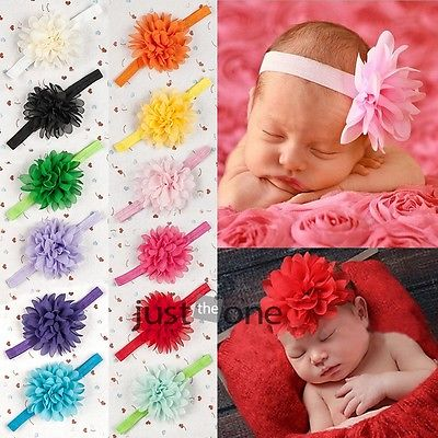 Sweet Infants Toddlers Baby Girls Chiffon Flower Headband Hairband Hair Decors 54(China (Mainland))