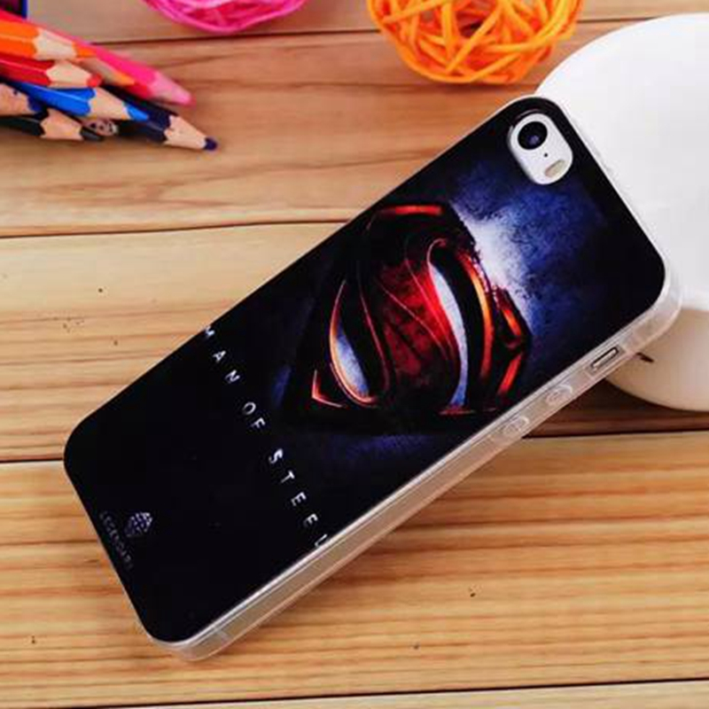 Cell Phone Case for iPhone 5 5S SE Superman Spiderman Avenger Fashion Pretty Girl Movie Skull Kiss Pattern TPU Soft Back Cover(China (Mainland))