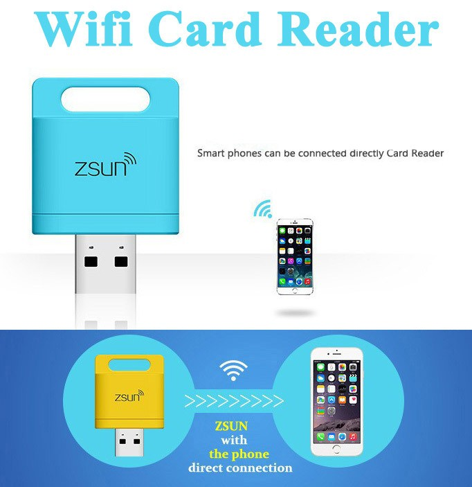 Zsun USB WiFi Card reader TF micro SD Card Reader USB wireless StoragePhone Memory Expand Disk For Windows Android/IOS/ Phone(China (Mainland))