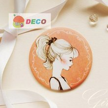 NEW girl hand Mirror Make up mirror Pocket cosmetic mirror Daily accessories Wholesale price (SS-1356)(China (Mainland))