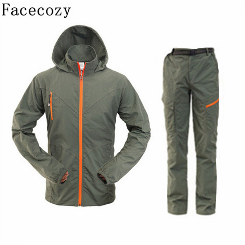 Men Outdoor Hiking UV Shirt +Pant/Set Summer Quick Dry Fishing&amp;Hunting Clothes Male Sport Rock Climbing&amp;Camping Shirts S-4XL<br><br>Aliexpress