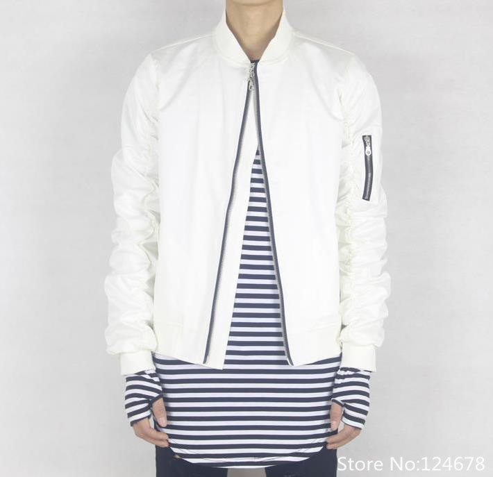 Cool white bomber jacket men hip hop swag clothes kanye Replica designer clothes uk