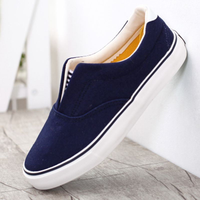 2015 candy solid color shallow mouth unisex canvas shoes women men shoes sneakers pedal lovers casual