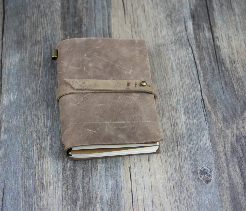 Special gift New arrival vintage Traveler's mini cute Notebook Cowhide diary spiral genuine leather for girl boy friend D0407a(China (Mainland))